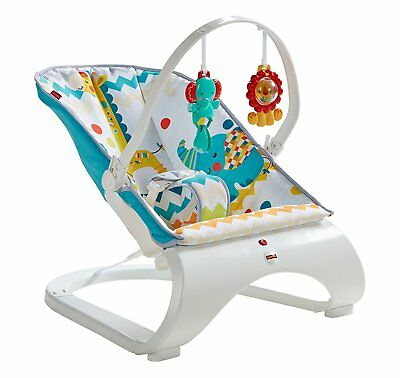 Fisher Price Baby Colourful Carnival Comfort Curve Bouncer  Playtime Fun Calming