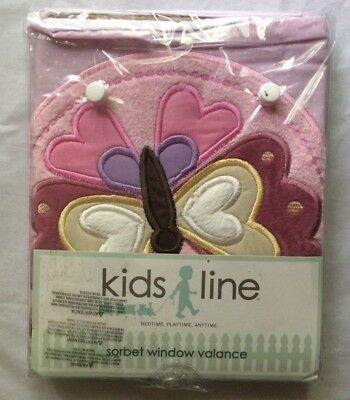 "Kidsline Sorbet Pink Appliqued and Embroidered Window Valance 60"" x 14"""