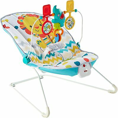 Fisher Price Colourful Carnival Bouncer Soothing Entertaining Baby Toy Bar Play