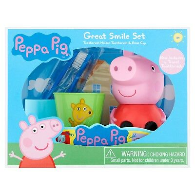 Peppa Pig Amazing Smile Set Children's Toothbrush Holder & Rinse Cup