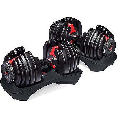 Bowflex Strength Adjustable Dumbbells Syncs Free SelectTech App Workout Kit Gym