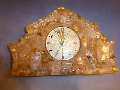 Vintage Lanshire mantel clock, resin formed. Face Int'l brotherhood of AFL CIO