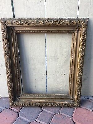 Beautiful Antique Victorian Gesso Gilt Ornate Large Picture Frame TLC #2