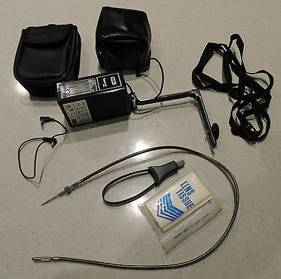 Assorted Flash Equipment - Flash, Stand, Filters, Two Bags, Shutter Release Etc