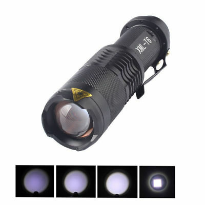 20000LM CREE XML T6 LED 14500  Flashlight ZOOM Tactical&Military Torch Light