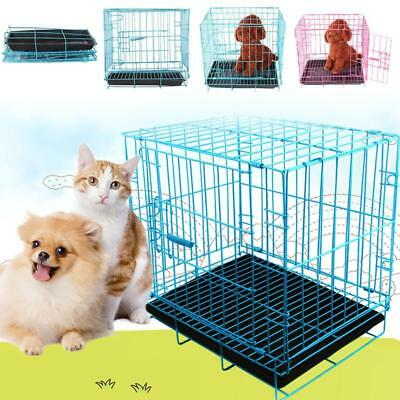 Pet Cage Iron Dog Cat Foldable Collapsible Wire Safe House Safety Outdoor Indoor