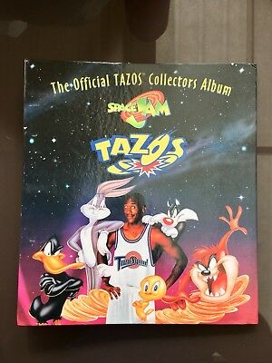 Tazos Album Complete Space Jam With Backing Pages