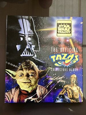 Complete Star Wars 80/80 Tazo Set With Backing Pages In Original Album 1996