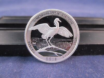 2018-S Silver Quarter CUMBERLAND ISLAND GA Deep Cameo Mirror Proof IN STOCK