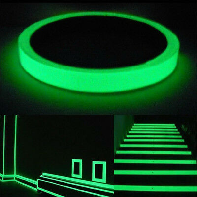 Luminous Green Glow In the Dark Sticker Tape. Safety Stage PROTECTIVE FILM 10m