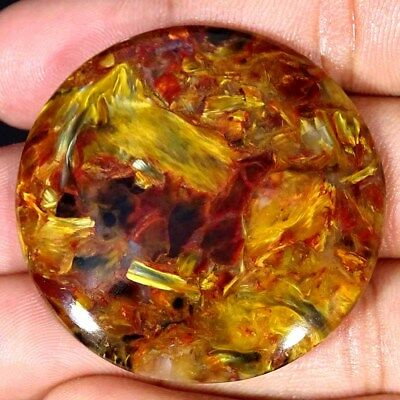 77.10Cts 100% Natural Designer Golden Pietersite Round Cabochon Loose Gemstone