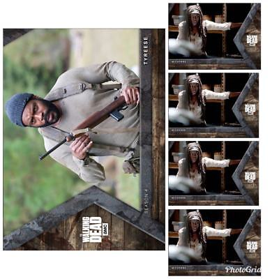 INTO THE HUNT TYREESE + 4x MICHONNE Topps Walking Dead Trader Digital