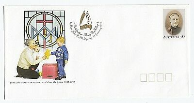 1995 Imprinted Beatification Of Mary Mackillop Pre Stamped Dl Envelope - Mint