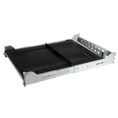 StarTech 2U Sliding Vented Server Rack Cabinet Shelf w/ Cable Mgmt