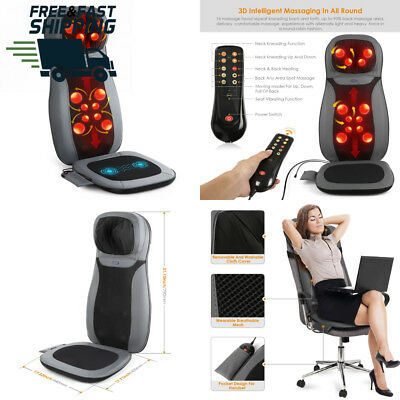INTEY Shiatsu Massage Chair Pad Back with Heat / Vibrating Functions for...