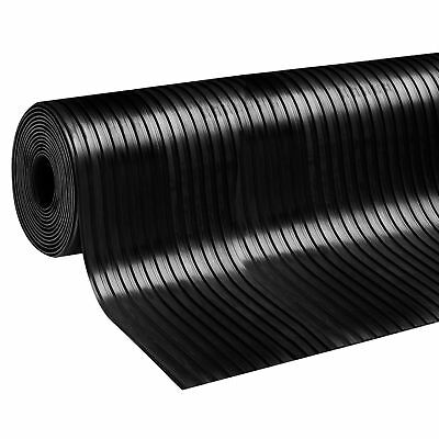 Wide RIBBED Rubber Sheeting Garage Flooring Matting Rolls 3 MM & 5 MM THICK