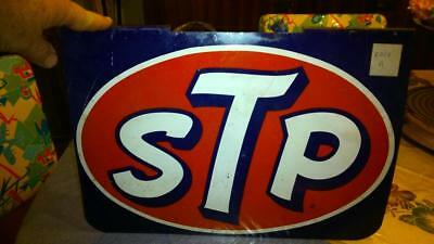 Rare Tole Stp Double Face Authentique 1950 Made In Usa