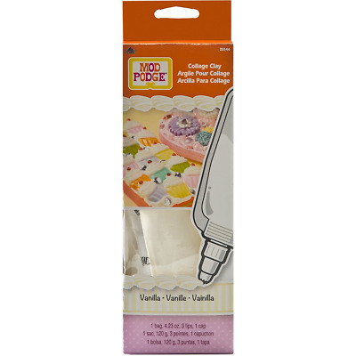 Mod Podge Collage Clay Vanilla White For Paper Crafting Projects Artwork Quality