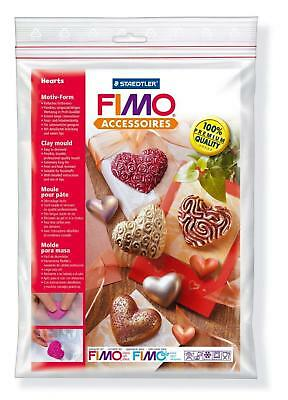 FIMO Hearts Clay Mould, White