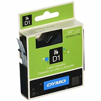 Labeling Tapes DYMO Standard D1 45010 Black Print On Clear 1/2'' 23' Cartridge)