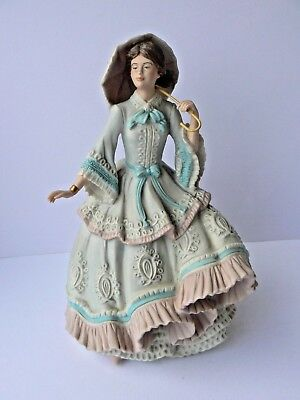 """Ltd Edition Wedgwood Figurine """"The Royal Flower Show"""" 1861 for Spink - 436/10000"""