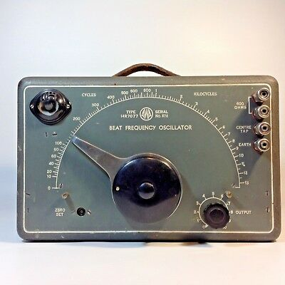 Vintage AWA 14R707 BEAT FREQUENCY OSCILLATOR