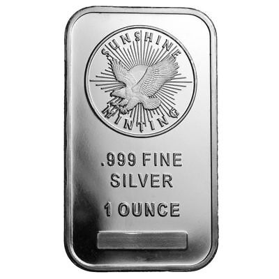 10 1 Ounce Silver Bars .999 Fine Sunshine Mint New Real SI™ Mint Mark