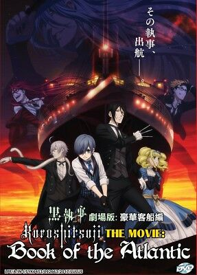 DVD Anime Kuroshitsuji Black Butler The Movie Book Of Atlantic English Subtitle