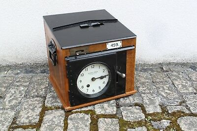 1937 Gledhill-Brook Portable Time Recorder Clock Clocking In Machine Rare Model