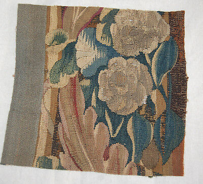 Antique Aubusson18th century handwoven French tapestry fragment