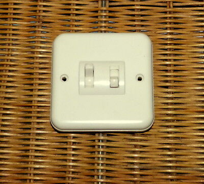Vintage Crabtree Ivorine Bakelite 2 Gang Light Switch