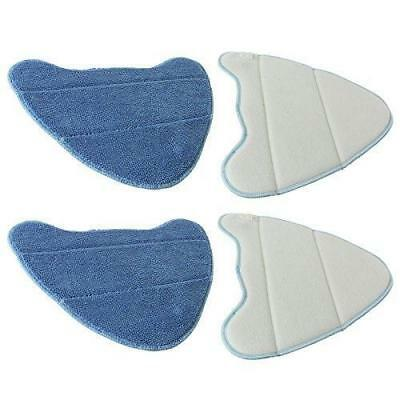 Spares2go Lifetime Washable Cleaning Pads for VAX Steam Cleaner Mops (Pack of 4)