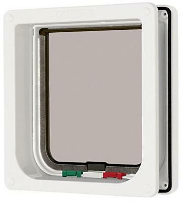 "Cat Mate 4 Way Locking Flap with Door Liner to 50mm (2""), White (235W)"