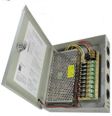 9CH DC 12V 20A Power Supply Switch Distribution Box For CCTV Security System