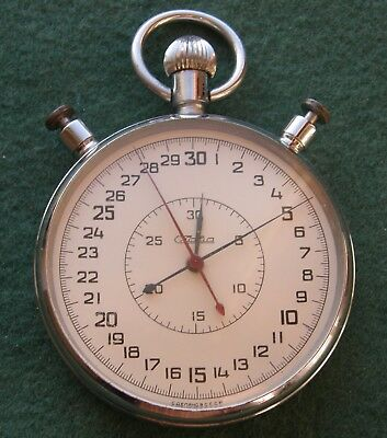 SLAVA very big Soviet stop watch, diameter 64,5mm