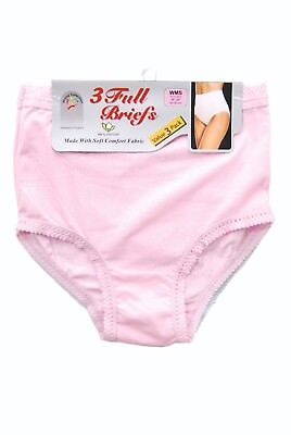 Ladies Full Briefs, in pack of 3 assorted pastel colours, sizes WMS-XXXOS