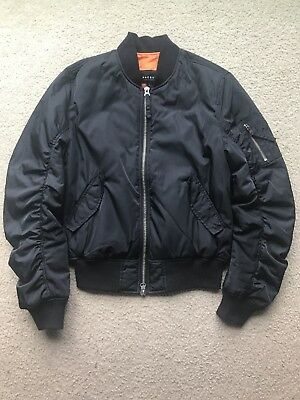 Pacsun Mens Bomber Jacket Black Orange Size Small Rare !