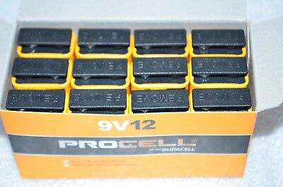 New Duracell Procell 9v 9 volt Alkaline battery 12 pack (1 box of 12) March 2022