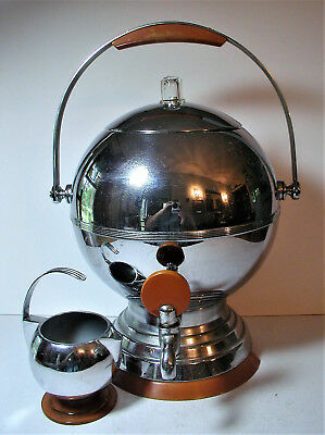 Manning & Bowman 1930s Art Deco Coffee Percolator Chrome & Bakelite