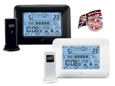 New Professional Wireless Weather Station Radio Clock (Made In Germany)