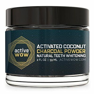Active Wow Teeth Whitening Charcoal Powder Natural , free shipping