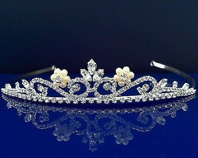 SparklyCrystal Bridal Floral Rhinestone Crystal Prom Wedding Crown Tiara 6812