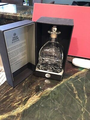 Patron Platinum CRYSTAL Tequila Empty 750 ml Bottle-Looks Great On Your Bar!