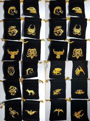 Small Dice Bags 2.5x 3.5 Multilisting 18 types Mythical Creatures D&D RPG