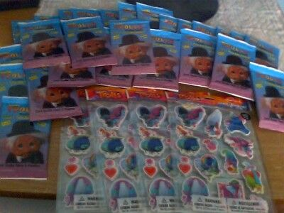A Lot Of Norfin Trolls Trading Cards And Sticker Sheets For Kids