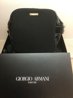 d0084c25beb3 GIORGIO ARMANI COSMETICS MAKEUP BAG CASE POUCH SAC CLUTCH TOILETRY NEW Black