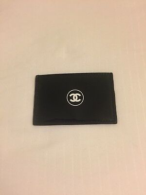 Chanel Beauty Makeup Bag Black Patent Business Card Holder Wallet VIP Gift