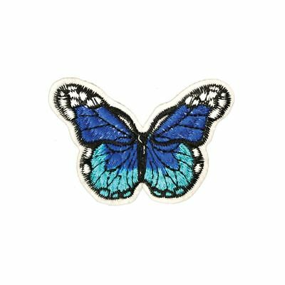 Shades Of Blue Dots Butterfly (Iron On)