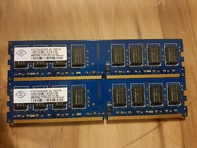 8Gb (4x2Gb) Nanya NT2GT64U8HD0BY-AD (2GB, PC2-6400 (DDR2-800), DDR2 SDRAM