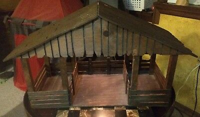 Large Wooden Stable Horse Barn With Light inside wood horse barn toy